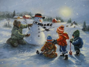 5 snowmen W