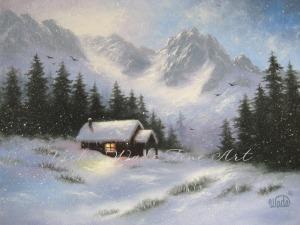 Snowy Hideaway original - Copy W