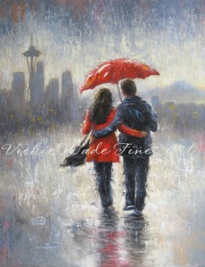 Seattle Lovers in the Rain W 003