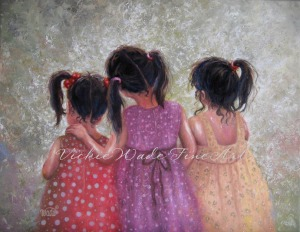 Three Little Sweet Pea Sisters W004