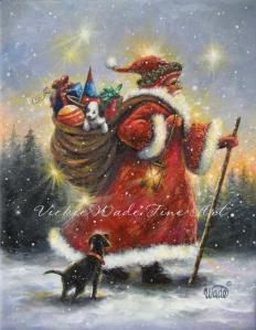 Peg's Strolling Santa W