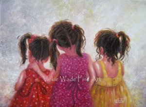 Three Little Sweet Pea Sisters II