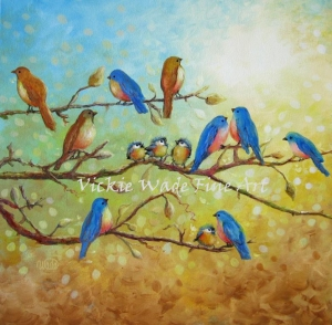 Blue Birds on BranchesW- Copy