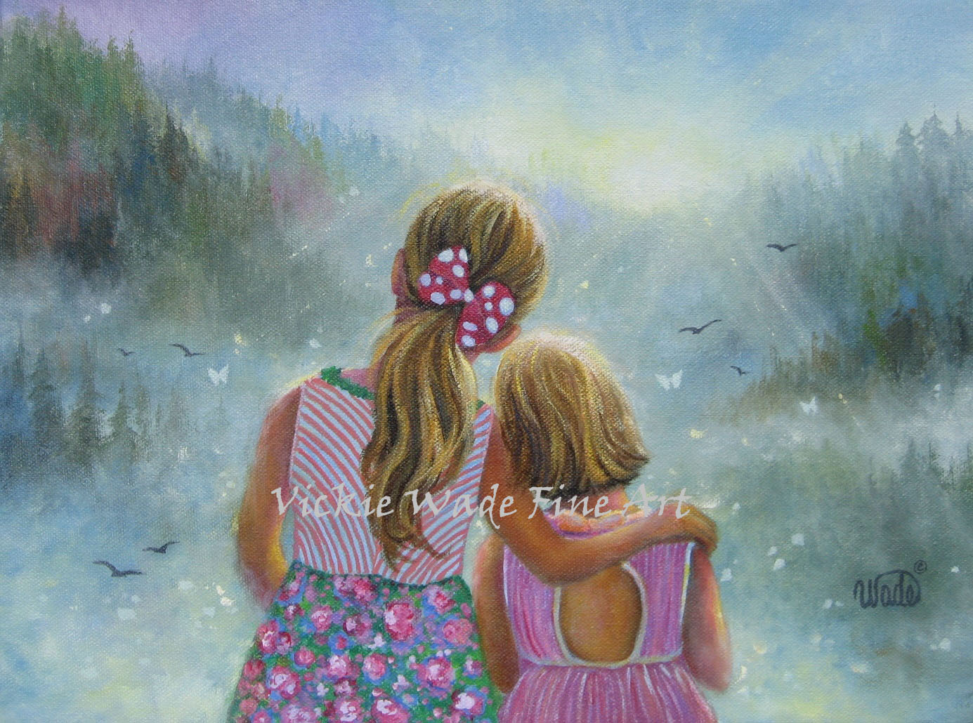 Two sisters vickie wade fine art for Art and craft drawing and painting