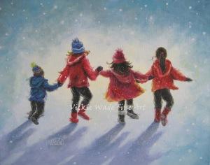Four Snow Children W