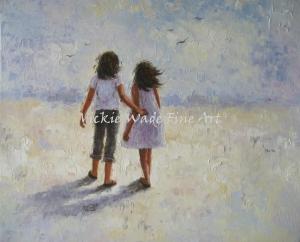 Beach Walk With Sister W005