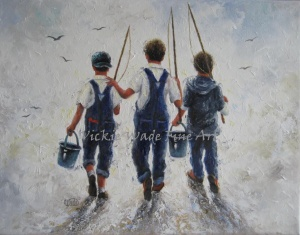 Three Boys Fishing W001