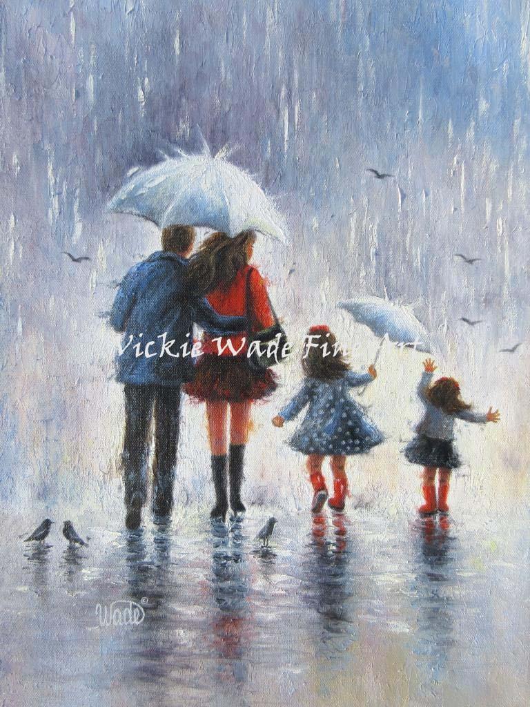 Rain People Vickie Wade Fine Art