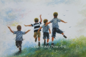 Four Boys Leaping13X19LRW