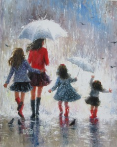 Rainy Day Walk With Mom 3 Daughters