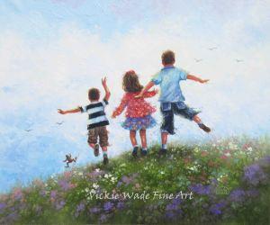 Three Children Leaping LRW