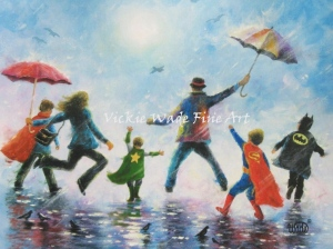 Singing in the Rain 4 Super Hero Boys LRW