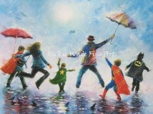 Singing in the Rain 4 Super Hero Boys LRW