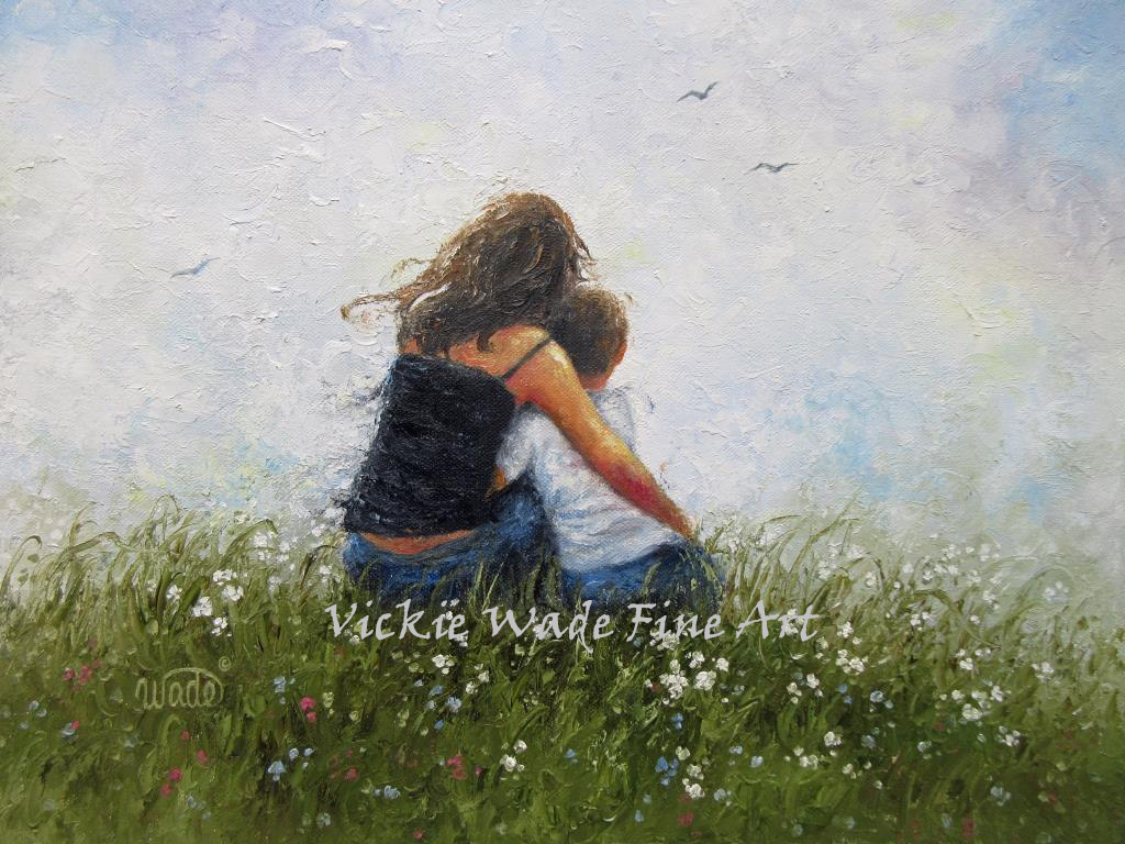 Mother and Son Hugs | Vickie Wade Fine Art